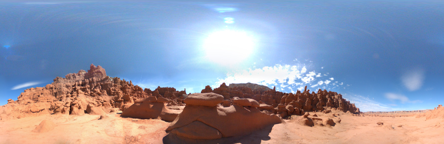 Bright sunny day in Goblin Valley