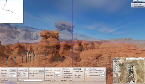 WebGL Panorama Editor (aligning the two panoramas shown)