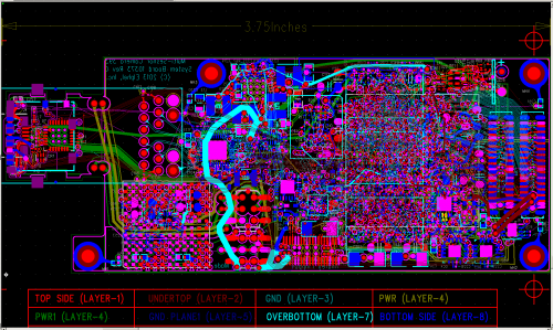 10353 System Board PCB layout