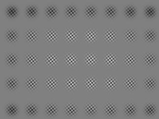 Fig. 3 Pattern image split into 40 regions for PSF sampling