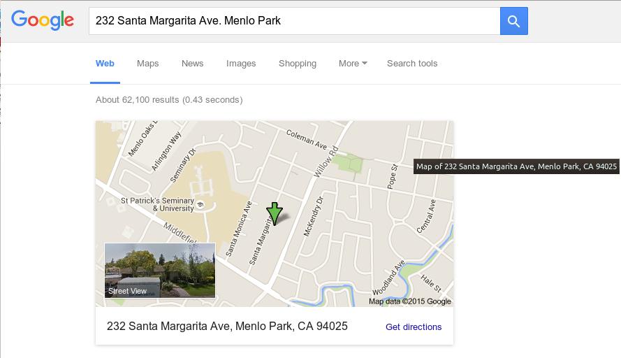 Google original location